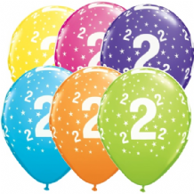 2nd Birthday Stars - 11 Inch Balloons 6pcs